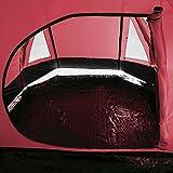 skandika Kambo 4 Personen Tunnelzelt mit großem Vorraum und 3.000 mm Wassersäule (rot) -