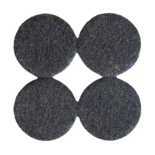 Filzgleiter, Möbelgleiter rund, ca. 3,8 cm Durchmesser, extra strapazierfähiger Filz, selbstklebend, 144 Stück, braun; als Bodenschutz für Möbelfüße, Tischbeine, Stuhlbeine, Stühle - Made in Canada