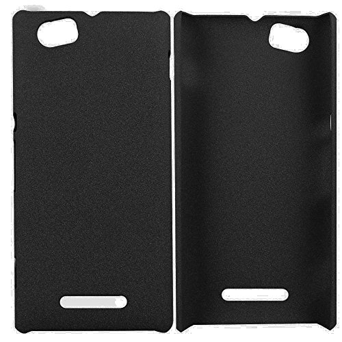 Heartly QuickSand Matte Finish Hybrid Flip Thin Hard Bumper Back Case Cover For Sony Xperia M C1905 C1904 - Bold Black  available at amazon for Rs.299