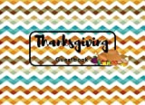 """Thanksgiving Guestbook: Zig Zag  Guest Book Message Book 