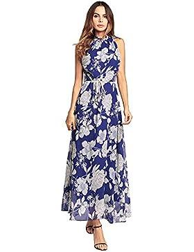 SJMMQZ Ladies' Print vestido, playa y nieve hilar falda falda