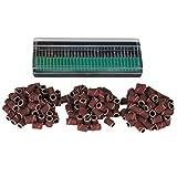 Saint-Acior 300 Elektrische Nagel Feile Schleifbänder Schleifkappen Nageldesign Fräser Schleifhülsen 80