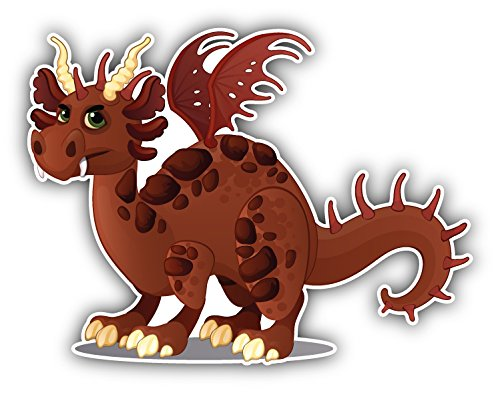 Brown Dragon Young Auto-Dekor-Vinylaufkleber 12 X 10 cm