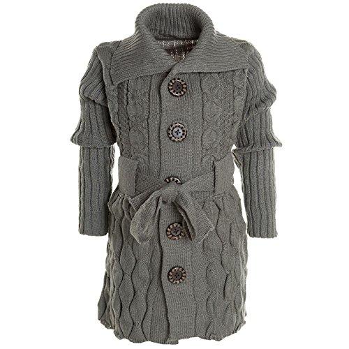Mädchen Cardigan Kinder Strickjacke Blusenkleid Longsleeve Langarm-Shirt 20574, (Outfit Kinder Alien)