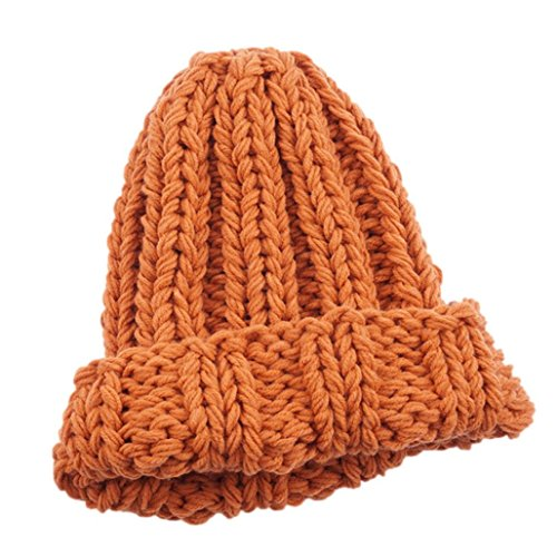 Damen Winter Hüte Mädchen Caps, Zolimx Frauen halten Warm Manuelle Wolle gestrickte Hut Gelb