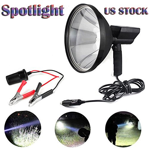 Bowoshen 22,9 cm 100 W Handheld HID-Strahler Hunting Light 8000LM für Angeln Fahren Camping Uns lokale Lager Hid-handheld