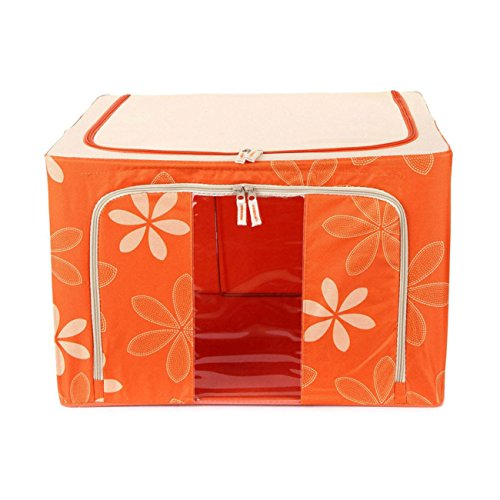 Imported Jumbo Saree/Lehenga/Woolens Storage Box (88 Liters) Foldable Collapsible Wardrobe Almirah Cabinet...