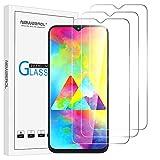 NEWZEROL [3 Pack] Ersatz für Samsung Galaxy M20 /M10 Panzerglas Schutzfolie, Hochauflösendes gehärtetes Displayschutz Anti-Scratch blasenfreier Displayschutzfolie-CLAR[Lebenslange Ersatzgarantie]