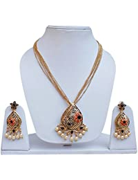 Lucky Jewellery Designer Golden Color Gold Plated Locket Set For Girls & Women - B078SQQQV8