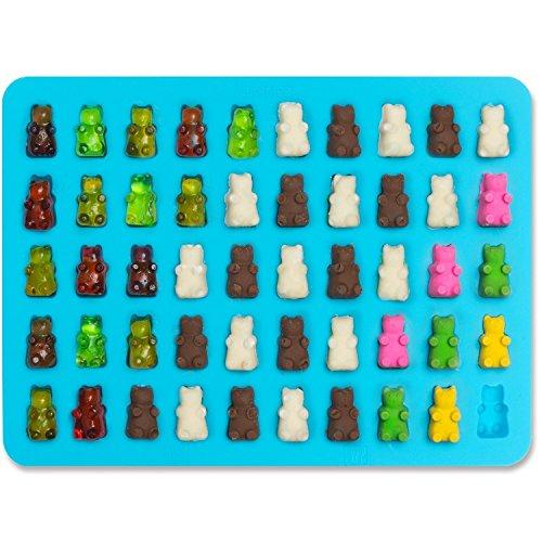 Joyoldelf 2er Silikon Gummibärform mit Pipetten - Pralinenformen,Süßigkeitform, Schokoladenform für Kinder und Erwachsene ein Spaßfaktor Silikon Candy Mold Gummibärchen