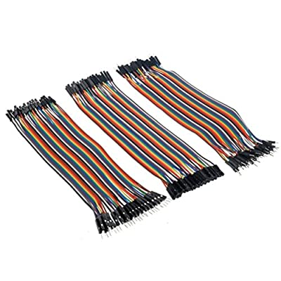 Setspares Male to Male 40 Pc, Female to Female 40 Pc, Male to Female 40 Pc Total 120 Pc Jumpers For Arduino,Raspberry pi, Sensors, And Other Dev.Board