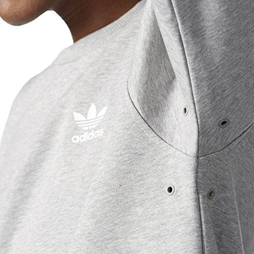 adidas Herren Doom Crew Sweatshirt Grau/Brgrin