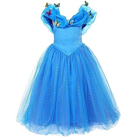 ELSA & ANNA® Princesa Disfraz Traje Parte Las Niñas Vestido (Girls Princess Fancy Dress) ES-FBA-CNDR2 (3-4 Años, ES-CNDR2)