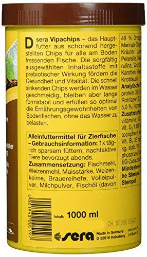 sera 00519 vipachips 1000 ml – Hauptfutter aus sinkenden Chips für alle Bodenbewohner im Aquarium - 2