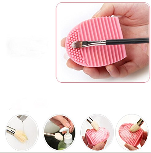 Internet Nettoyage Gant MakeUp Lavage Brosse Conseil Scrubber Cosmetic Clean Rose