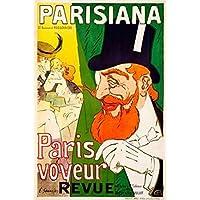 J. Saunier – Parisiana / Paris voyeur Artistica di Stampa (50,80 x