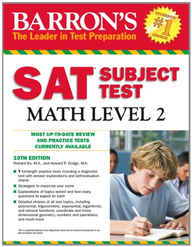 SAT Subject Test Math Level 2 (Barron's Sat Subject Test Math Level 2)