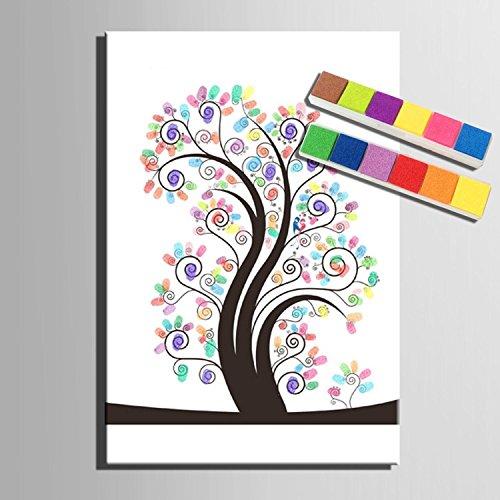 Impronta personalizzata pittura tela stampe - il colore dell'albero (include 12 colori di inchiostro) , blank ,