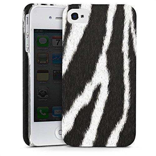 Apple iPhone 7 Plus Tasche Hülle Flip Case Zebra Fell Monochrom Premium Case glänzend