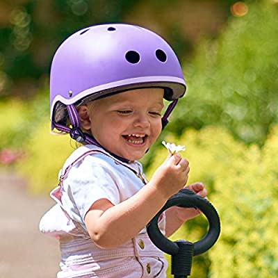 Micro Childrens Helmet Purple Small 48-52Cm Girls Scooting Bike Cycling Safety by Micro