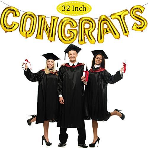 32 pollici palloncini di congratulazione di lamina oro palloncini di congrats banner di congrats palloncini di lettere per congratulazioni di celebrazioni di laurea matrimonio e fidanzamento festa