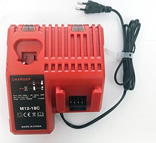 Preisvergleich Produktbild Ladegerät 12V 14.4V 18V Li-ion Werkzeug Akku Ersatz Ladegerät für Milwaukee 14.4V-18V Li-ion Batterie M18 M14 M12 48-59-1812, 48-59-1807, 48-59-1806, 48-59-1840, 2710-20
