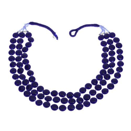Blaue Perlen Halskette indische Handarbeit Kostüm Schmuck (Kostüm Schmuck Indien)