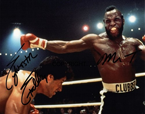 Limited Edition Stallone MR T Rocky Signiert Foto Autogramm signiertsigniertes (Foto-und Autogramm-buch)