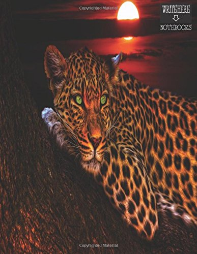 Leopard Finish (Write Here Notebooks: Leopard Notebook/Journal 100 Pages of Blank Unlined Paper 8.5
