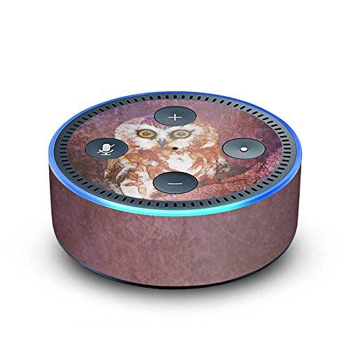 amazon Echo Dot 2.Generation Folie Skin Sticker aus Vinyl-Folie Eule Owl Watercolour