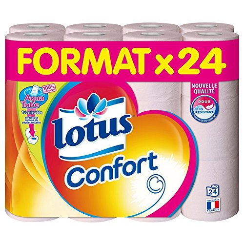24 Rolls of Toilet Paper Lotus Comfort Aquatube