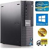 PC COMPUTER DESKTOP FISSO CON WINDOWS 10 PRO | DELL OPTIPLEX 980 SFF | INTEL QUAD CORE i5-650 | RAM 8GB | SSD 240GB | LETTORE DVD | VGA - DISPLAY PORT (Ricondizionato)