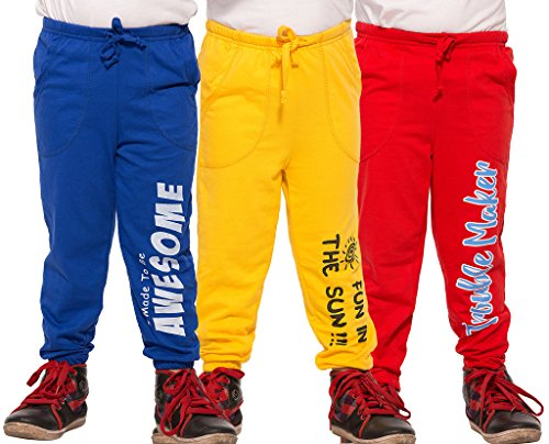 Maniac Kids Pant (Pack of 3) (ML-KIDS-PANT-BLUE-YELLOW-RED-3-4_Multicolour_3-4 Years)