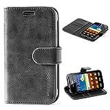 Mulbess Ledertasche im Ständer Book Case / Kartenfach für Samsung Galaxy XCover 3 Tasche Hülle Leder Etui,Schwarz