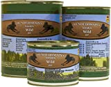 HUNDEDOMAIN's Feinstes (6x200g) 100%-PUR Singleprotein Nassfutter (Wild PUR)