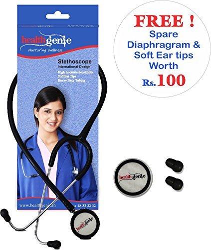 Healthgenie HG-101B Mono Nurses Stethoscope (Black)