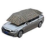 JL-Q Auto Sonnenschirm/Semi-Automobile Zelt Mobile Carport Faltbare Tragbare Auto Schutz Auto Regenschirm Sonnencreme Markise Abdeckung Universal (157.48''X86.62 '') Tri-Color Optional,Camouflage