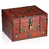 Brynnberg Scrigno del tesoro vintage 24x20x15cm - con lucchetto