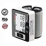Firhealth Tensiomètre Electronique de poignet professionnel haute précision ,appareil de tension pour contrôle votre hypertension ,deux utilisateurs capacité