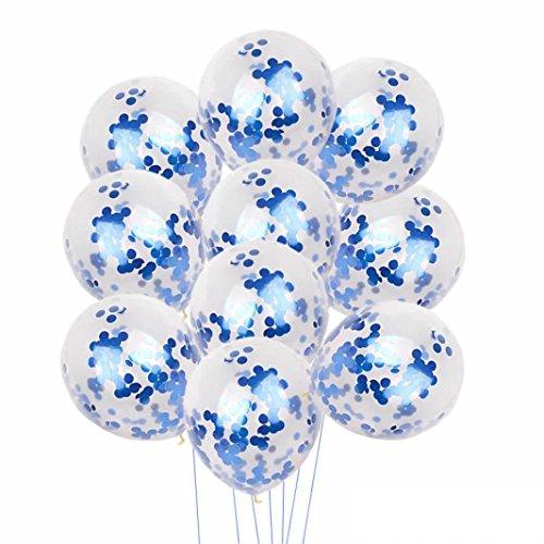 Gusspower 10 Piezas Globos de Confeti Globo de Confeti de Latex Transparente para Decoraciones de Banquete de Boda de Cumpleaños,Hay muchos colores para elegir (D)