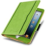 iPad Mini Case - The Original Green & Tan Leather Smart Cover for iPad Mini 4th, 3rd, 2nd and 1st Generation