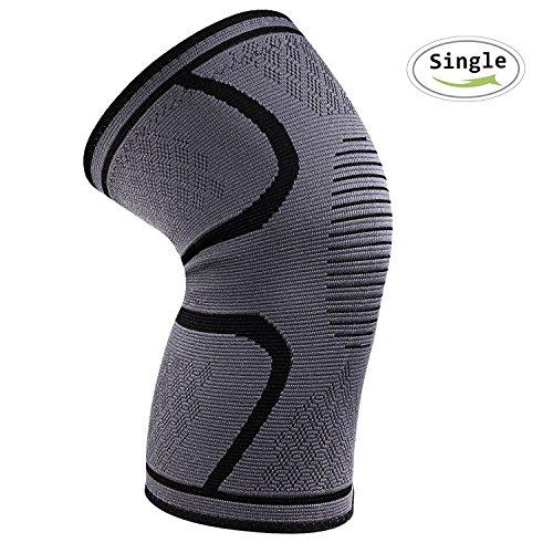 Kniebandage,iBuger Knieschoner Elastische atmungsaktiv kompression für mehr Stabilität beim Sport und im Alltag,wirkt schmerzlindernd bei Gelenkkrankheiten für Damen und Herren,Single