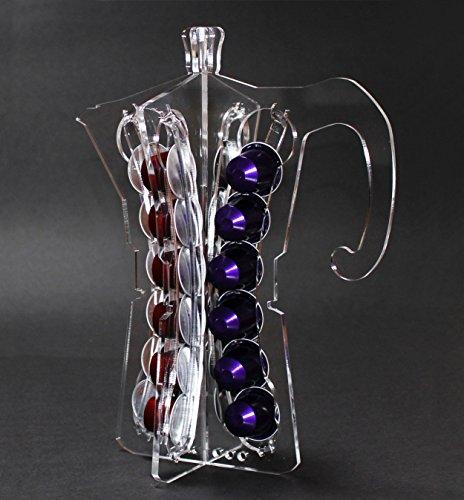 .:plexiartglass:. porta-capsule-cialde-caffè-nespresso-trasparente made in italy