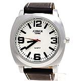 Klassische Herren Armband Uhr in Schwarz Silber