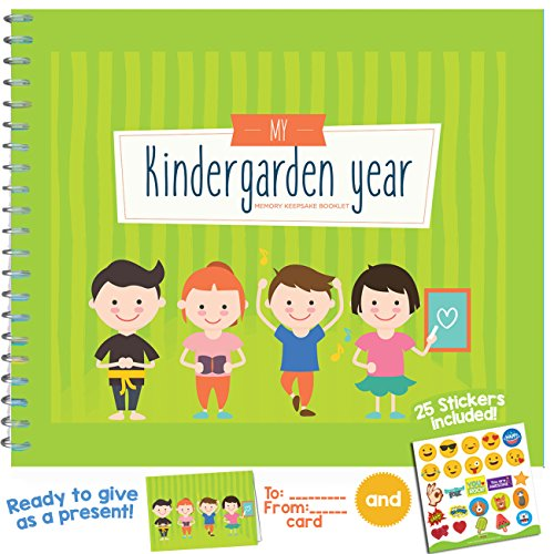 My Kindergarten Jahr–Schöne 6x 8Baby-Andenken Journal für die Vorschule, Kinderbetreuung, Kindergarten und Day Care.