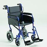 Transit-Rollstuhl ALU LITE blau SB45.5 ,ST43, Handbetriebene Standard-Rollstühle