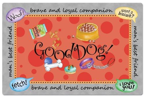 Counter Art Füttern Pet Mats Good Dog–Set von 2 (Counter-tisch-set)