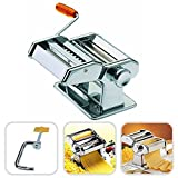Todeco - Pasta Machine, Pasta Maker - Cutting Thickness: 6 Adjustable Thickness Settings