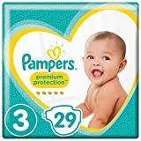 Pampers Premium Protection Windeln, Gr. 3 Midi (6-10 kg), 4er Pack (4 x 29 Stück)