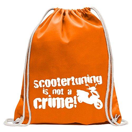KIWISTAR - Scootertuning is not a Crime! Design 1 Turnbeutel Fun Rucksack Sport Beutel Gymsack Baumwolle mit Ziehgurt